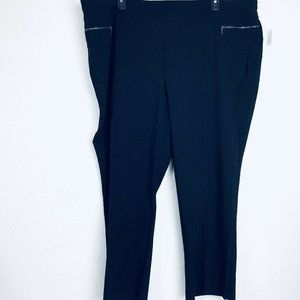 COUTERPARTS Black Pull On Women Pants. Size 26W. N